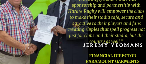 Harare Rugby receives major equipment boost